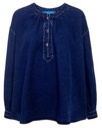 M.i.h Jeans - Oldfield Peasant Denim Top - Lyst