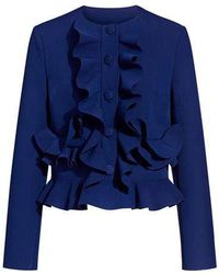 MSGM - Ruffled Cropped Jacket - Lyst