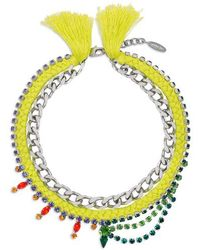 Joomi Lim - Crystal Cotton Necklace - Lyst