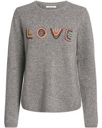 Chinti & Parker - Love Wool-cashmere Blend Embroidered Sweater - Lyst