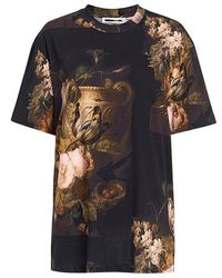 McQ - Dutch Masters Floral-print Oversized T-shirt - Lyst