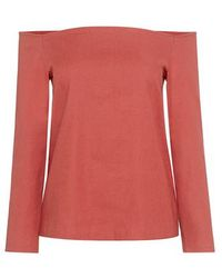 Theory - Aprine Off-the-shoulder Top - Lyst