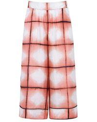 Thakoon | Tie Die Silk Cropped Culottes | Lyst