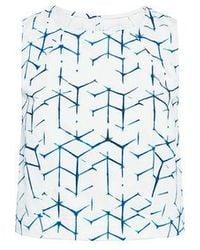 3x1 - Shibori Print Crop Top - Lyst