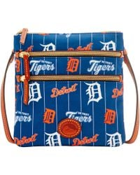 Dooney & Bourke - Mlb Tigers Triple Zip Crossbody - Lyst