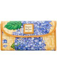 Dooney & Bourke - Hydrangea Basketweave Continental Clutch - Lyst