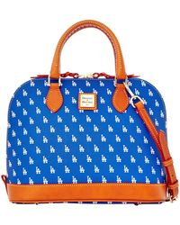 Dooney & Bourke - Mlb Dodgers Zip Zip Satchel - Lyst