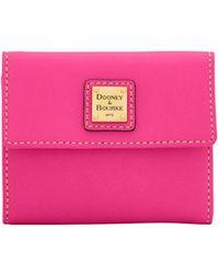 Dooney & Bourke - Emerson Small Flap Wallet - Lyst