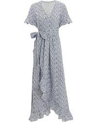 1028b20804d3d Nightcap - Indigo Ruffle Maxi Dress Navy/white P - Lyst