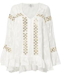 We Are Kindred - Stephanie Gold Grommet Blouse - Lyst