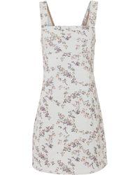 Rag & Bone - Floral Denim Mini Dress - Lyst