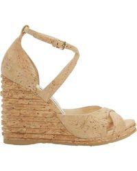 Jimmy Choo - Alanah Cork Wedges - Lyst