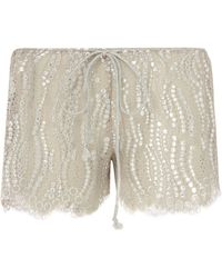 Miguelina | Minnie Chantilly Lace Shorts | Lyst