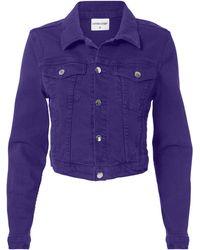 Cotton Citizen - Purple Cropped Denim Jacket - Lyst