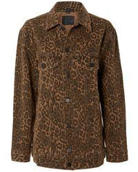 Alexander Wang - Daze Leopard Denim Jacket - Lyst