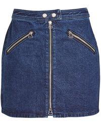 Rag & Bone - Cotton Denim Racer Miniskirt - Lyst
