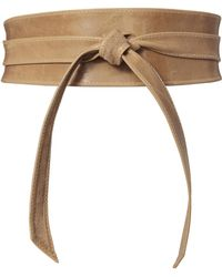 Brave Leather - Nude Leather Waist Belt - Lyst