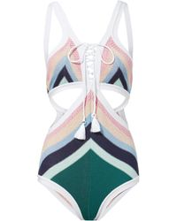 Suboo | Paradiso Lace-up One Piece Swimsuit | Lyst