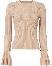 Jonathan Simkhai - Flare Sleeve Blush Sweater - Lyst