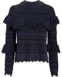Jonathan Simkhai - Tassel Knit Sweater - Lyst