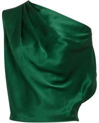 Michelle Mason - Emerald Off Shoulder Blouse - Lyst