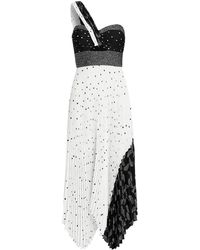 47a6c701ff5 A.L.C. - Aurora Patchwork One Shoulder Dress Blk wht 8 - Lyst
