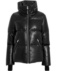 Mackage - Leather Puffer Jacket - Lyst