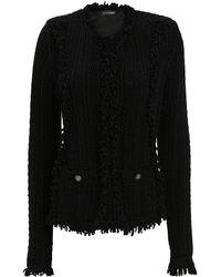 Intermix - Ikaterina Black Knit Jacket - Lyst