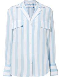 FRAME   Striped Silk Top   Lyst