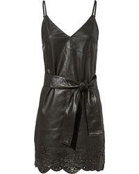 Marissa Webb - Bristol Eyelet Leather Dress - Lyst