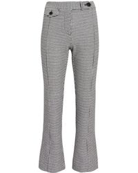 10 Crosby Derek Lam - Houndstooth Cropped Flare Trousers - Lyst