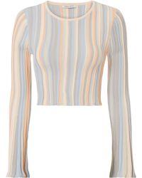 Ronny Kobo | Juni Pastel Striped Crop Top | Lyst