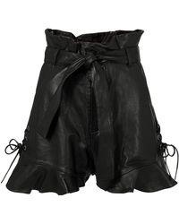 Marissa Webb - Tina Leather Shorts - Lyst