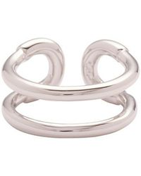 Giles & Brother - Tiny Cortina Ring: Silver - Lyst