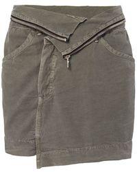 NSF - Exclusive Zip Army Skirt - Lyst