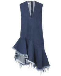 American Rag Cie - Denim Sleeveless V-neck Dress - Lyst