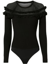 Exclusive For Intermix - Mary Ruffle Knit Bodysuit - Lyst