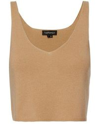ThePerfext - Kendall Cropped Cashmere Tank Top - Lyst