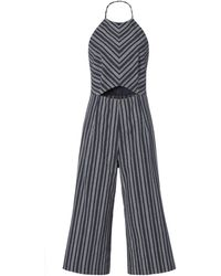 Exclusive For Intermix - Elena Striped Cropped Jumpsuit - Lyst