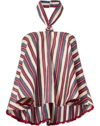 Viva Aviva - Striped Halter Neck Top - Lyst