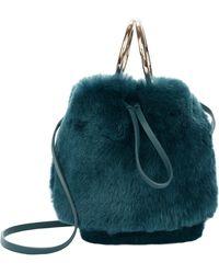Maison Boinet - Teal Mini Bucket Crossbody Bag - Lyst