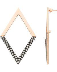 Nickho Rey - Statement Hinged Diamond Shape Earrings - Lyst