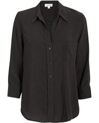 L'Agence - Ryan Three-quarter Sleeve Black Blouse - Lyst
