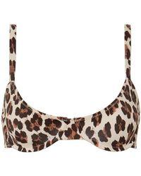 Caroline Constas Mer - Mykela Leopard Bikini Top - Lyst