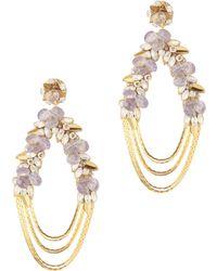 Deepa Gurnani - Penelope Floral Chain Earrings - Lyst