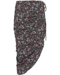 Veronica Beard - Ari Floral Ruched Skirt - Lyst