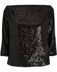 A.L.C. - Zoey Off-shoulder Sequin 3/4-sleeve Top - Lyst