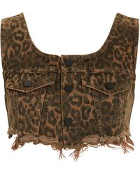Alexander Wang - Leopard Bralette Crop Top - Lyst
