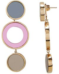 Colette Malouf - Reflection Bronze And Pink Circle Earrings - Lyst