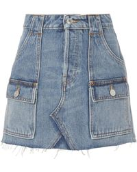 RE/DONE - The Cargo Mini Skirt - Lyst